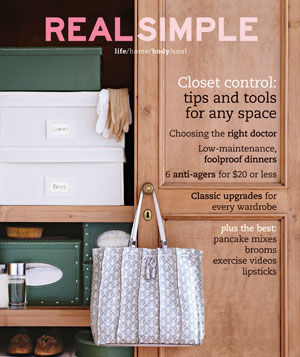Real Simple Cover October 2004