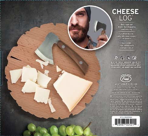 Fred and Friends Cheese Log Board 488 9